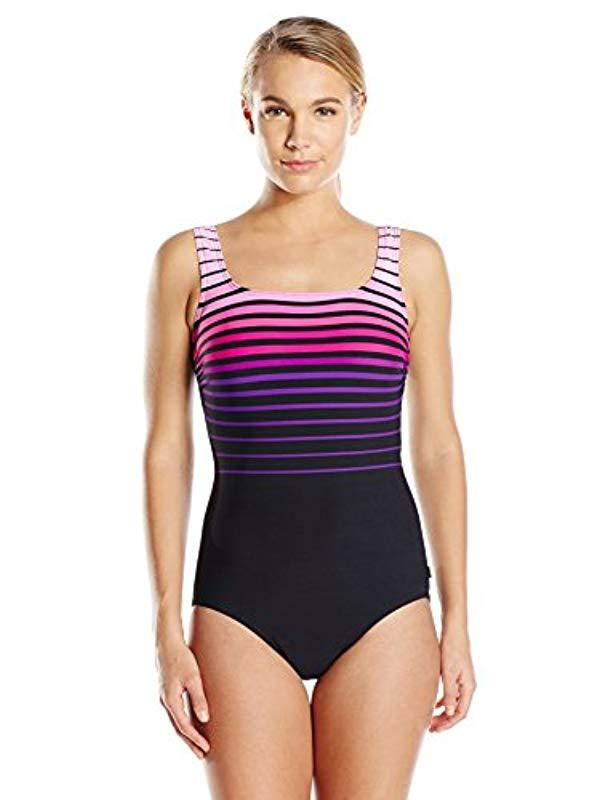 1c0a142a3acf2 Lyst - Reebok Sea To Shining Sea One-piece Swimsuit in Pink - Save 63%