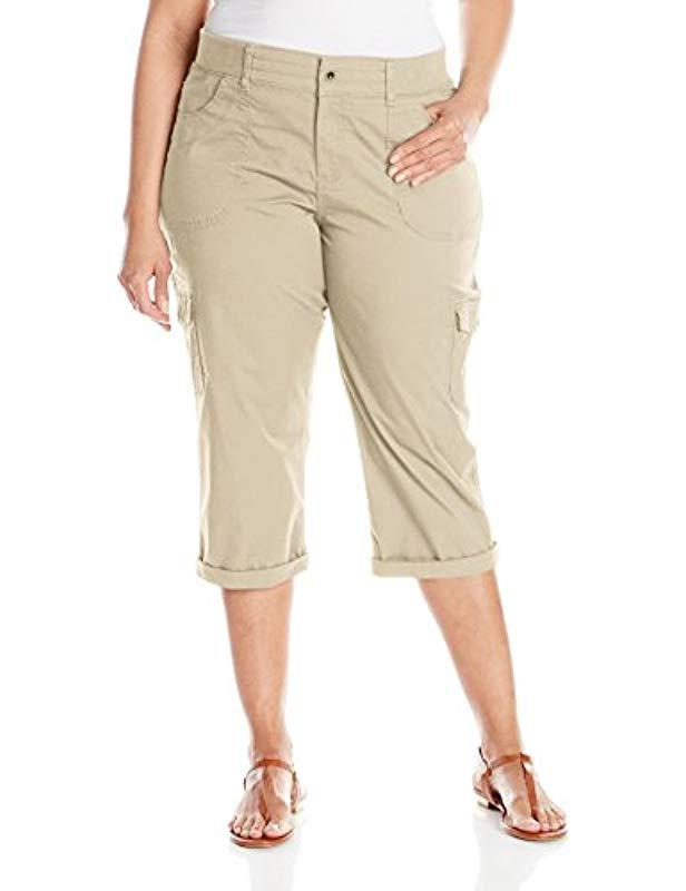 5f7c0b9a Lee Jeans. Women's Natural Plus Size Relaxed-fit Austyn Knit Waist Capri  Pant
