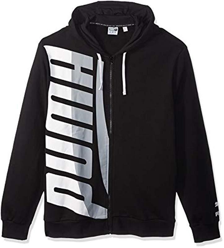 c115dad5366bf Lyst - PUMA Loud Pack Full Zip Hoodie in Black for Men