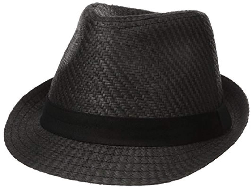 ec763d55410 Lyst levis classic straw fedora hat in black for men jpg 1067x800 Levis  fedora hat