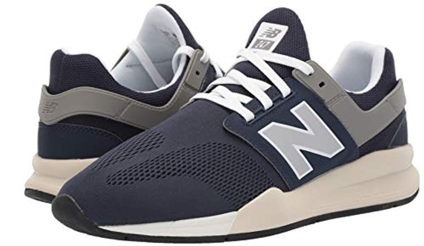 New Balance 247v2 Sneaker in Nubuck Navy/Bone (Blue) for Men - Lyst