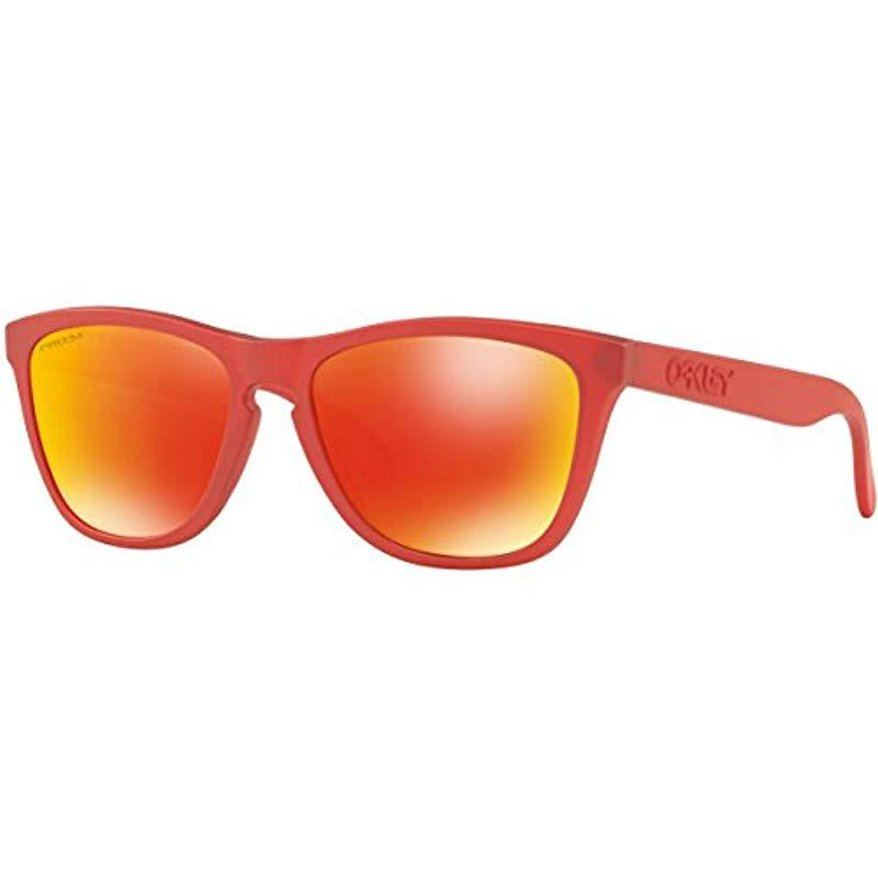 07ff2814a8e Lyst - Oakley Frogskins 009013 Wayfarer Sunglasses in Red for Men ...