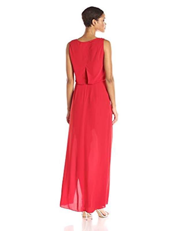 BCBGMax Azria Womens Koko Woven Evening Gown