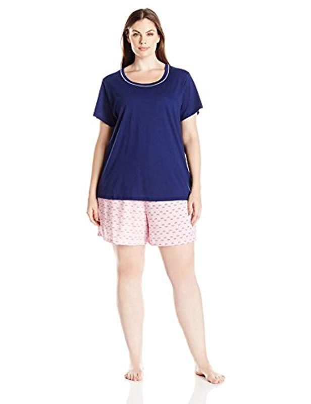 ca3a1b8c88f Lyst - Jockey Plus Size Knit Boxer Pajama Set - Save 25.0%