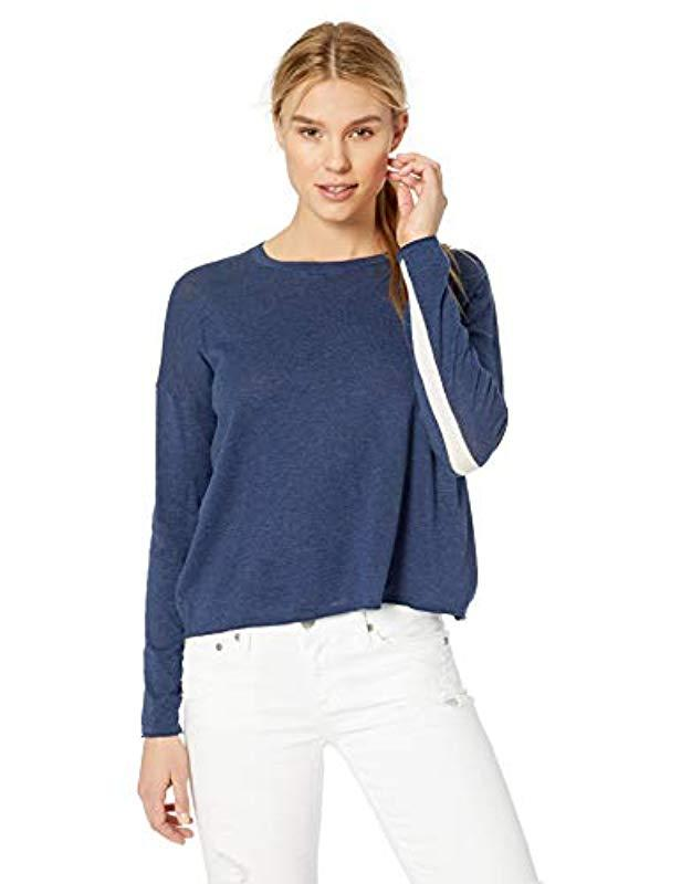 0c18fbc3adb2fa Lyst - Velvet By Graham & Spencer Tinsley Lux Cottonsweater in Blue