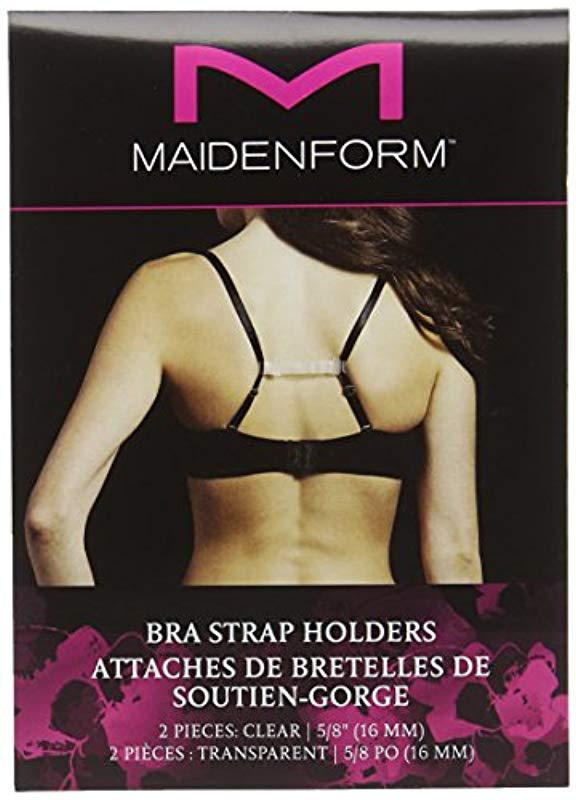 5dbe5e6c95 Maidenform - Black Plus Size Clear Bra Strap Holder - Lyst. View fullscreen