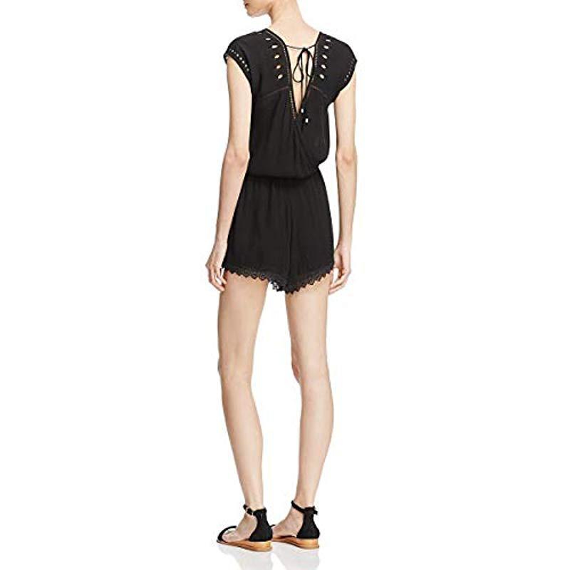 c3d2525a607 Ella Moss - Black Broderie Anglaise Embroidered Romper - Lyst. View  fullscreen