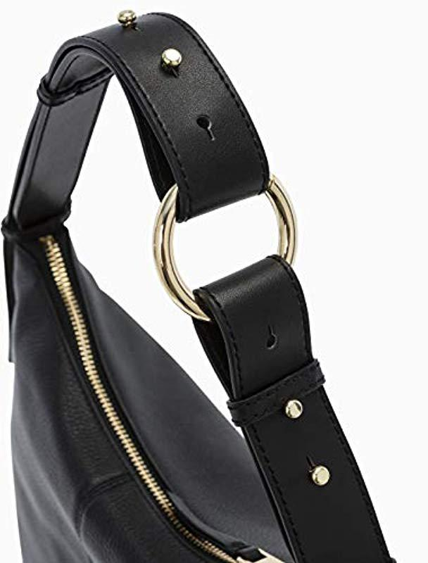 2c843a53e06d Calvin Klein - Black Liana Pebble Leather Belted Top Zip Slouchy Hobo -  Lyst. View fullscreen