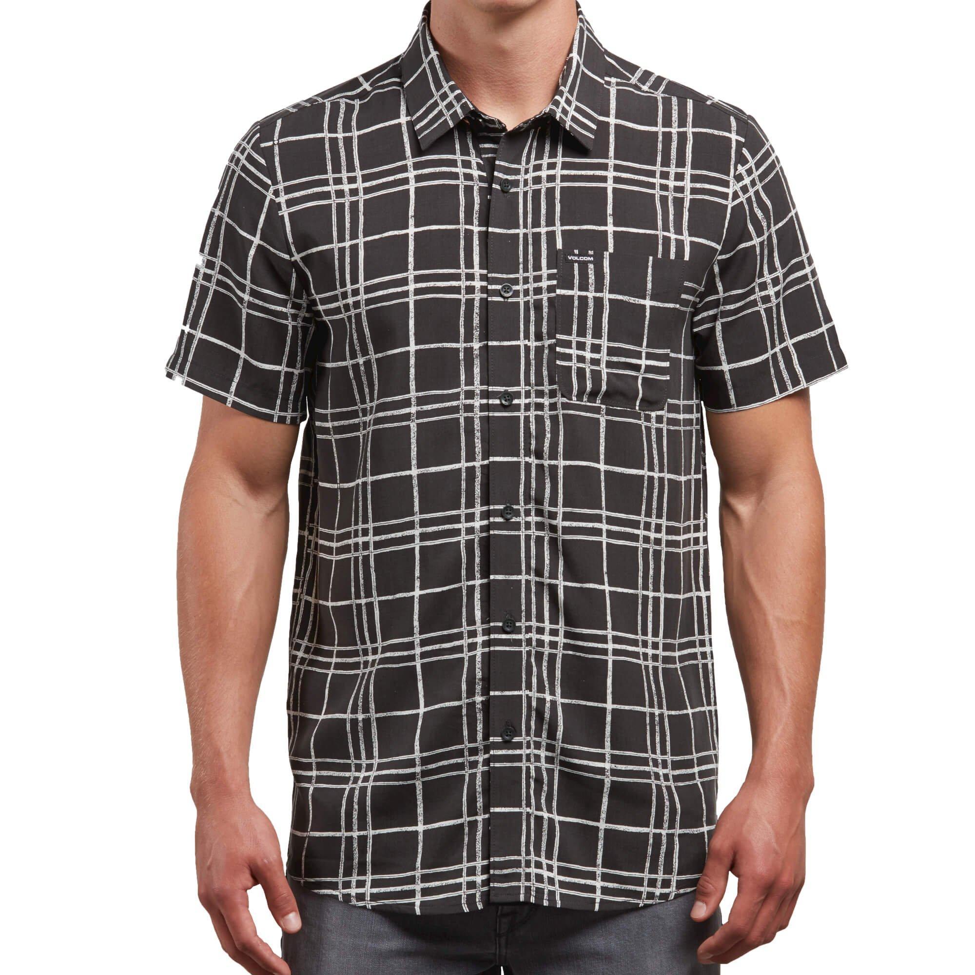 Volcom Boys Rollins All Over Print Short Sleeve Button Up Shirt