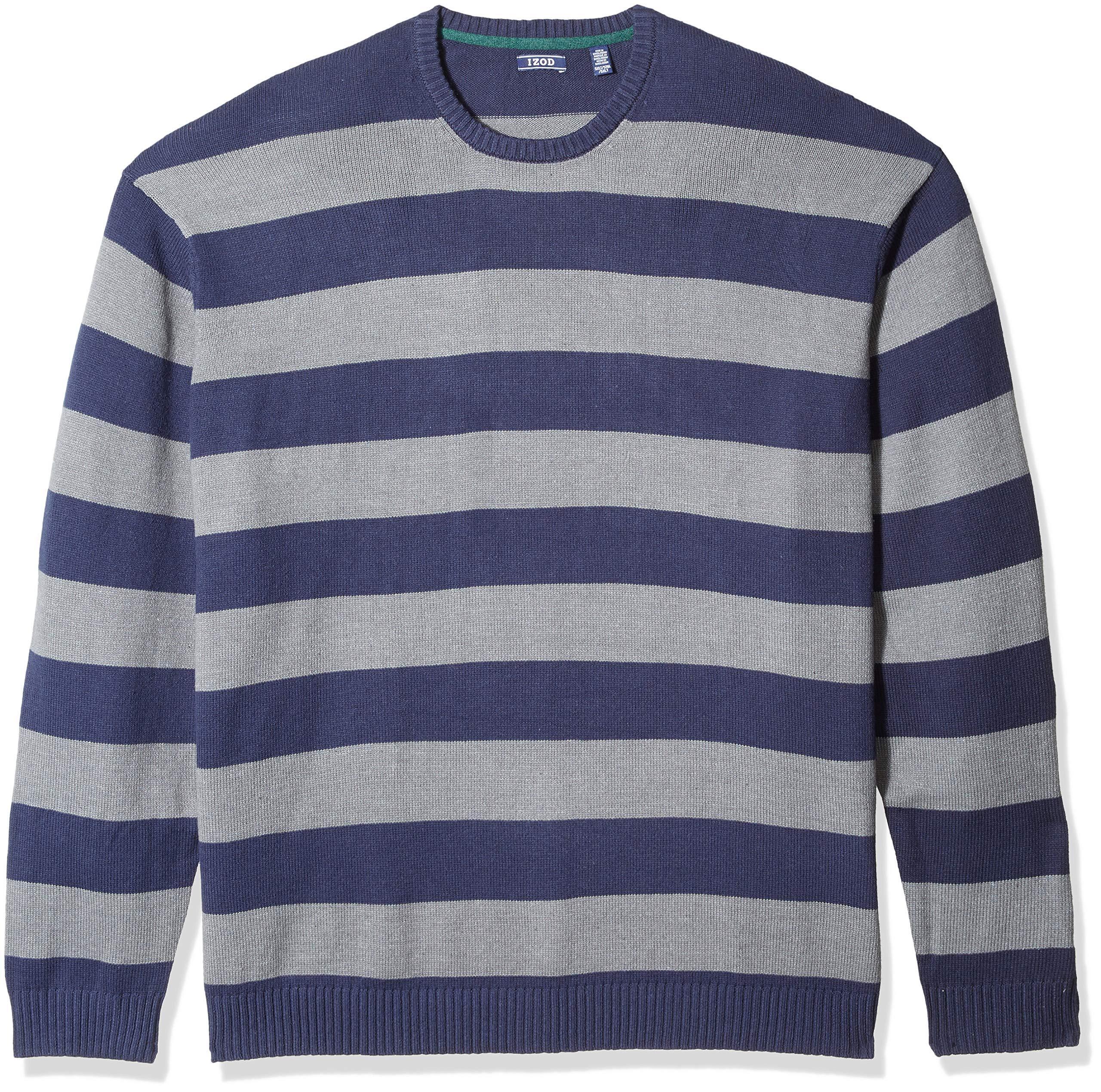 IZOD Mens Shaker Quarter Zip 7 Gauge Ribbed Sweater
