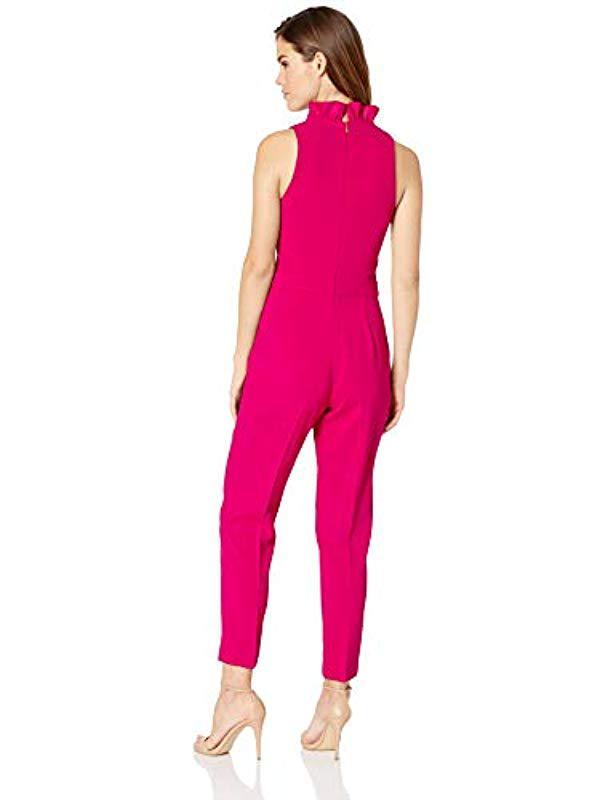 139ce8d1c64 Trina Turk - Pink Lady Ruffle Collar Jumpsuit - Lyst. View fullscreen