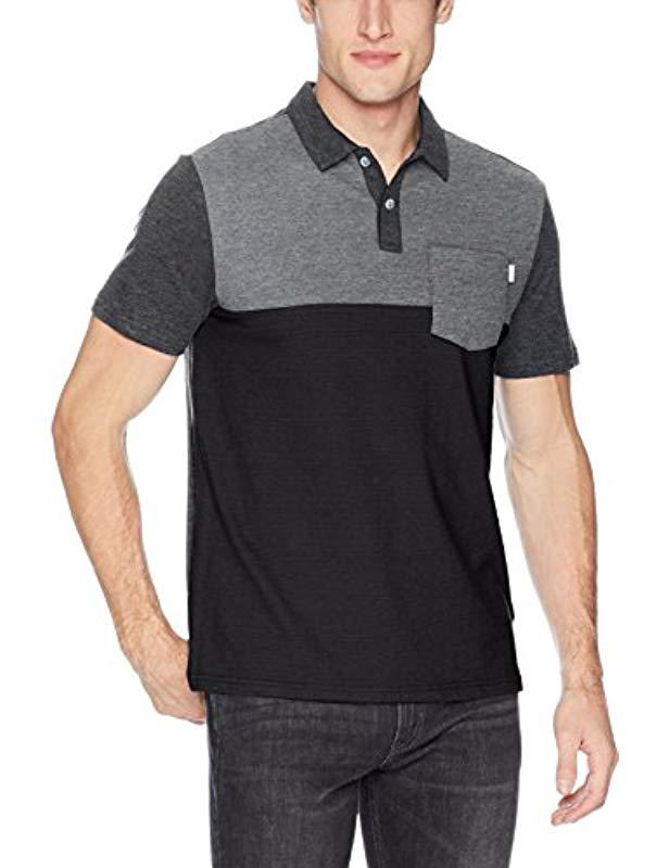 0dfaafe4a Lyst - Calvin Klein Short Sleeve Color Block Polo Shirt With Pocket ...