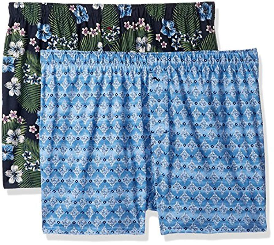 f1e2789212cd Lyst - Tommy Bahama Tropical Breeze 2 Pack Knit Boxer Set in Blue ...