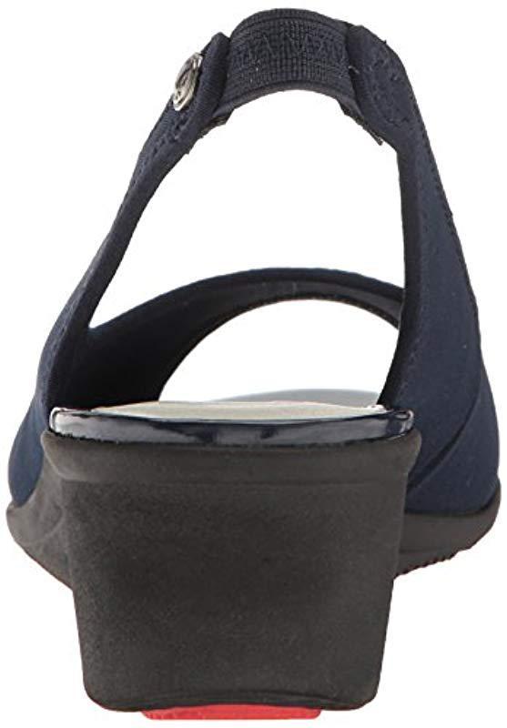 28811718fde6 Anne Klein - Blue Ak Sport Jayla Fabric Wedge Pump - Lyst. View fullscreen