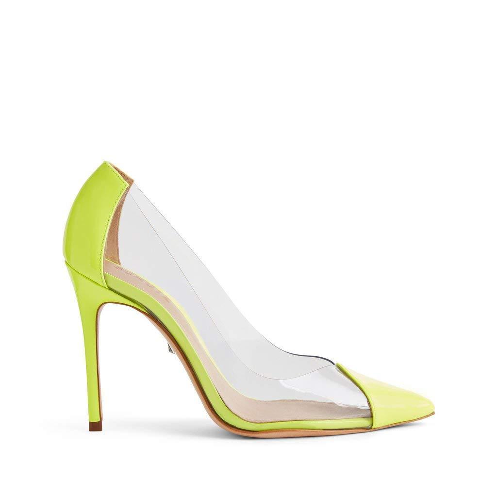 Schutz Leather S Cendi Neon Yellow