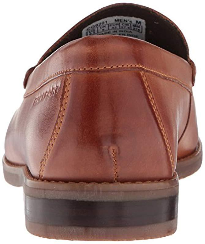f712bd8aef9 Lyst - Rockport Cayleb Woven Penny Loafer in Brown for Men