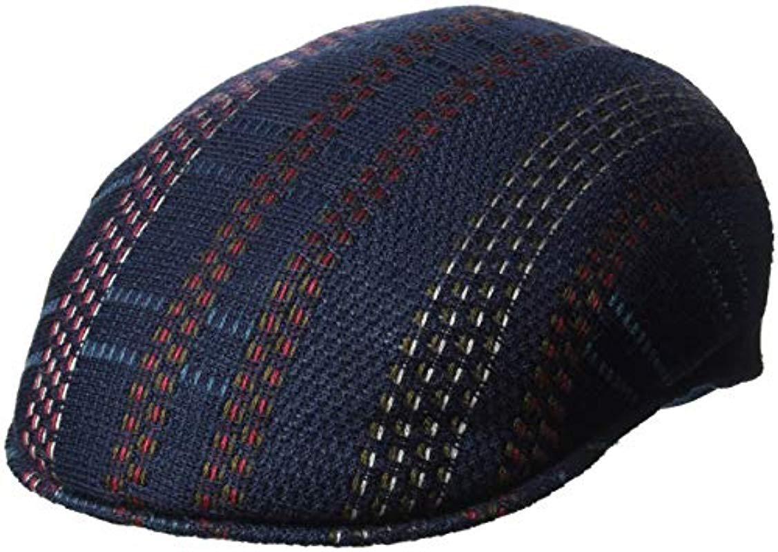Lyst - Kangol Pixel Plaid 504 Flat Ivy Cap Hat in Blue for Men ... 5cff6abe401b