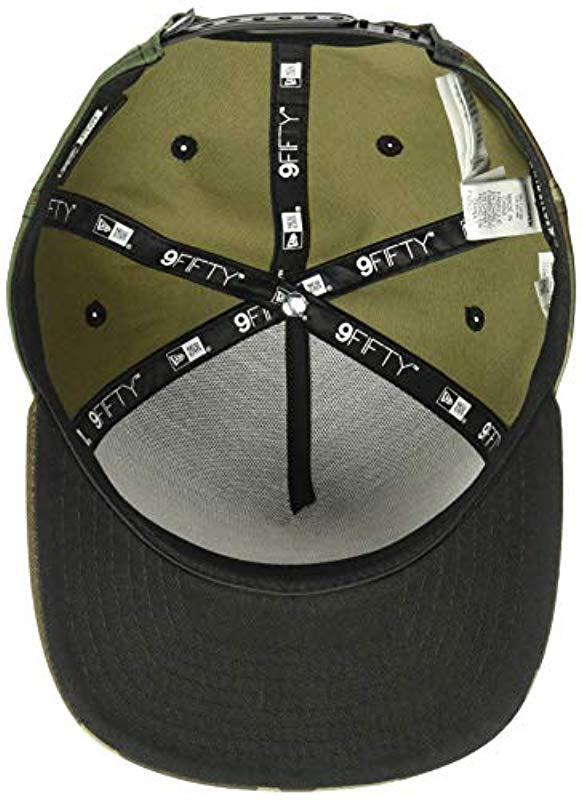 e9068112 Quiksilver - Green Stuckles Snap Trucker Hat for Men - Lyst. View fullscreen