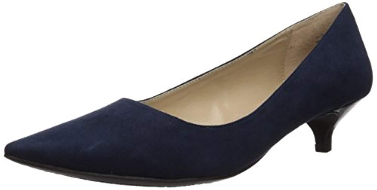 173088943d28 Lyst - Ellen Tracy Page Suede Low Heel Pump in Blue