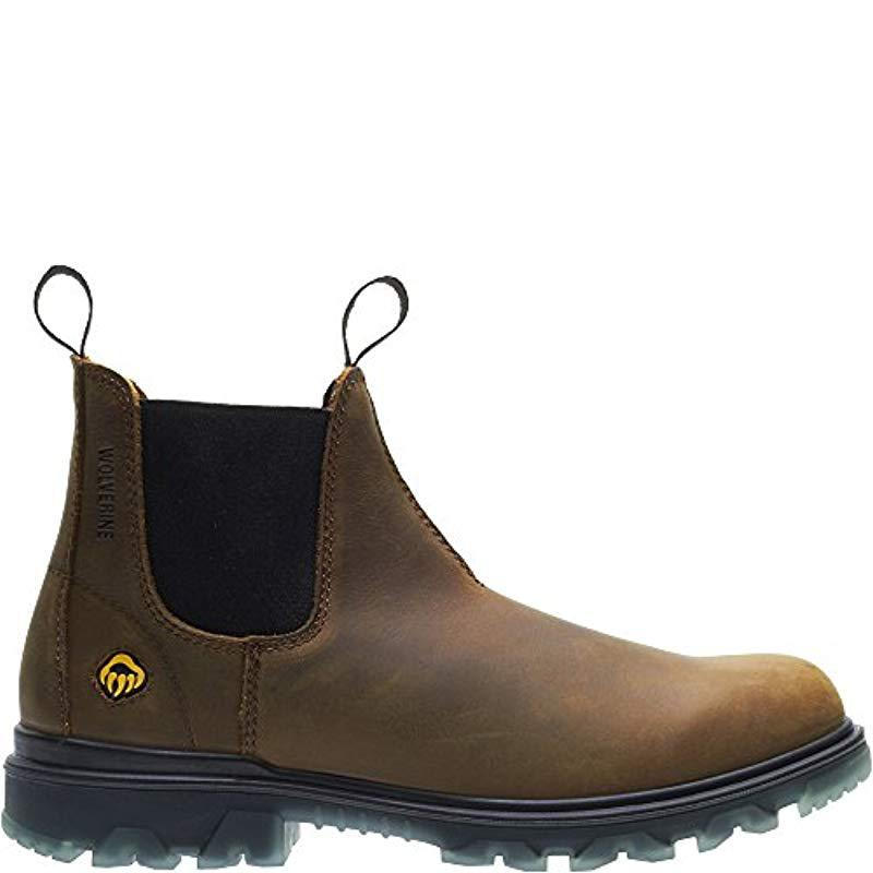 16c54080b67 Men's Brown I-90 Waterproof Soft-toe Romeo Slip-on Construction Boot