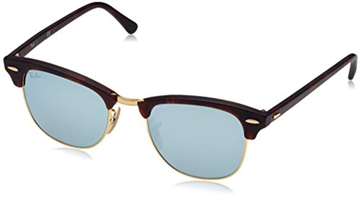 Lyst - Ray-Ban Unisex Rb3016 Clubmaster 49mm in Blue 04e89d76e40e