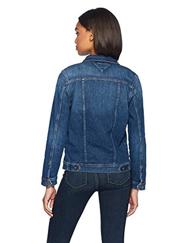 3683fa96841 Lyst - Tommy Hilfiger Jean Slim Denim Trucker Jacket in Blue