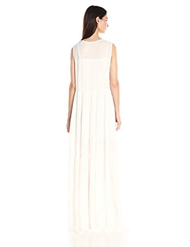 d69b15ebad8 Lyst - French Connection Castaway Lace Sleeveless Maxi Dress in White -  Save 76%