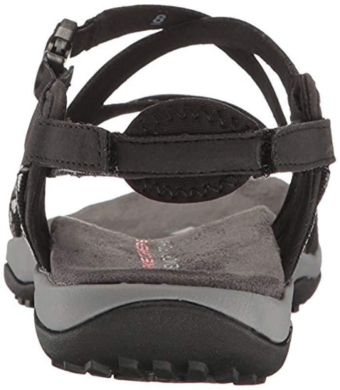 d2dac4a007f Skechers - Black Regga Slim Keep Close Gladiator Sandal - Lyst. View  fullscreen