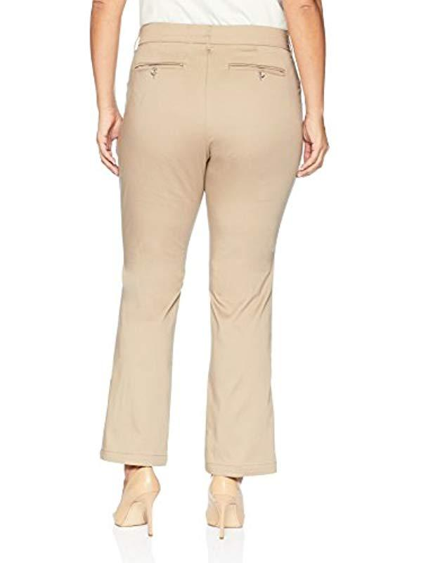 0afe79e165a Lyst - Lee Jeans Plus Size Flex Motion Regular Fit Straight Leg Pant in  Natural