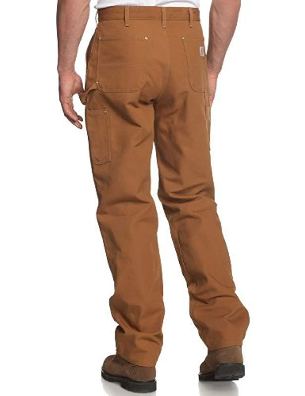 1bc147bf0794 Lyst - Carhartt Firm Duck Double- Front Work Dungaree Pant B01 in Brown for  Men - Save 20%