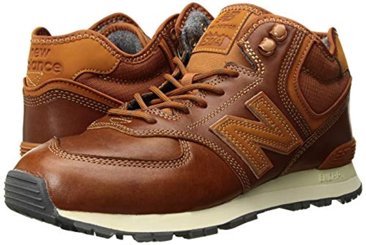New Balance Leather Iconic 574 Sneaker in Brown for Men - Lyst
