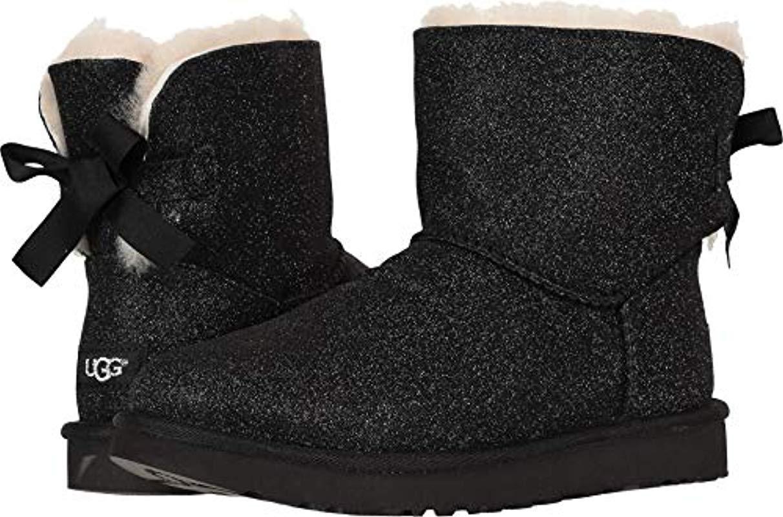 0b63d6c31 UGG W Mini Bailey Bow Sparkle Fashion Boot in Black - Lyst