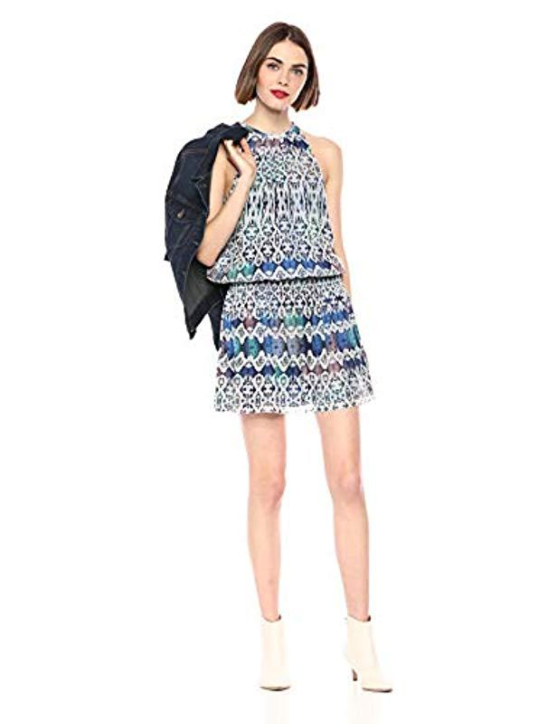 8e5a9a2f3b12a3 Lyst - Ramy Brook Printed Python Paris Sleeveless Dress in Blue