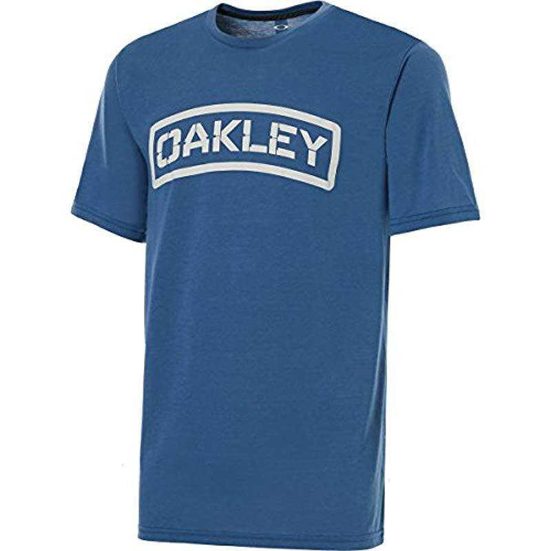 68afd013f1 Lyst - Oakley O-tab Tee in Blue for Men - Save 10.0%