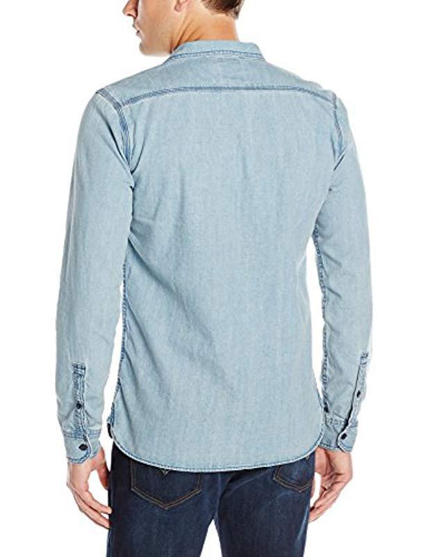 2467f798c21 Lyst - Levi s Standard Denim Work Shirt in Blue for Men