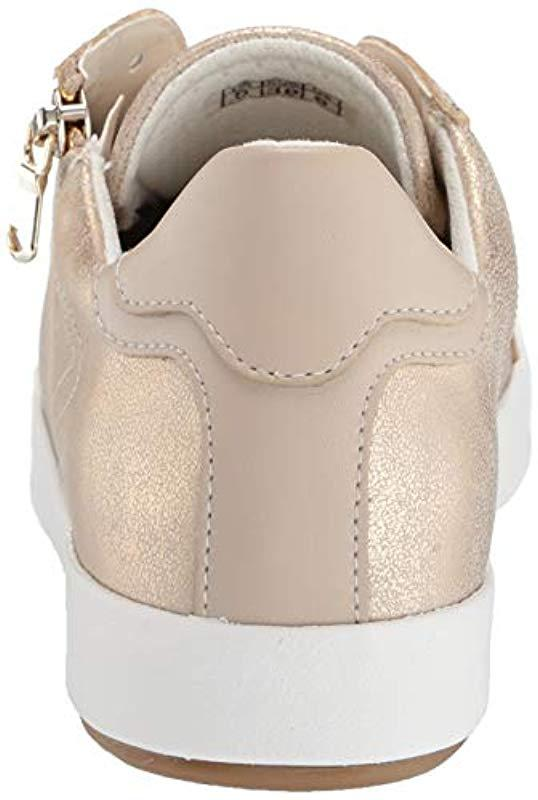 Sneaker With Lyst Zipper 10 Natural Geox Blomiee In Fashion zMUqpSV
