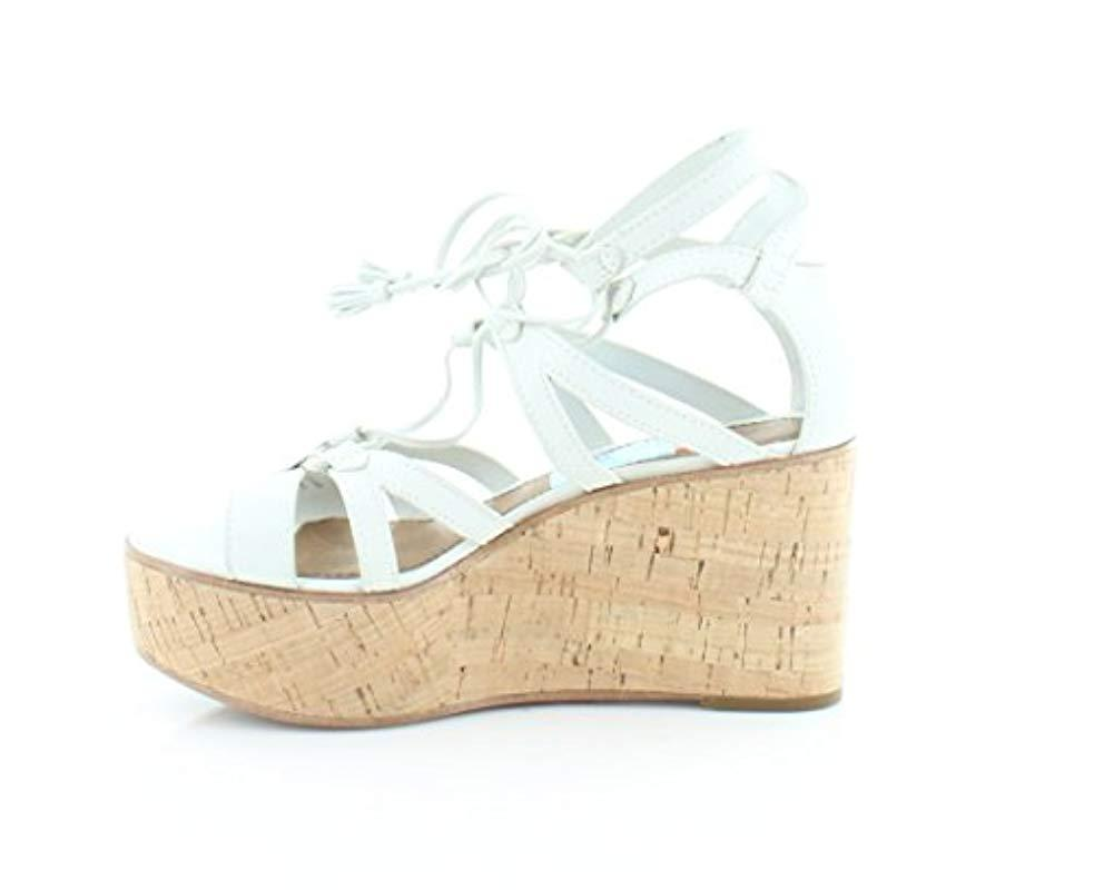 3342a8ef014e4 Frye - White Heather Gladiator Wedge Sandal - Lyst. View fullscreen