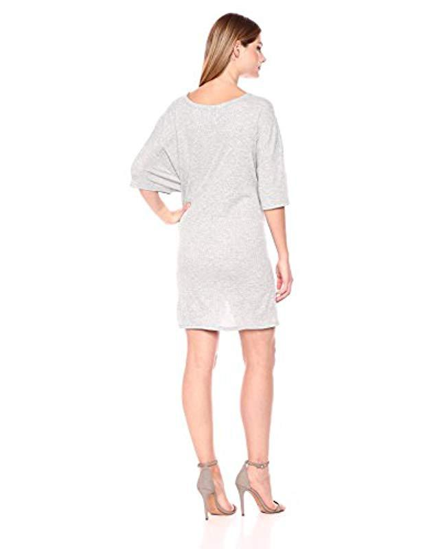 2833442337 Lyst - MINKPINK Tie Front Tee Dress in Gray - Save 2%