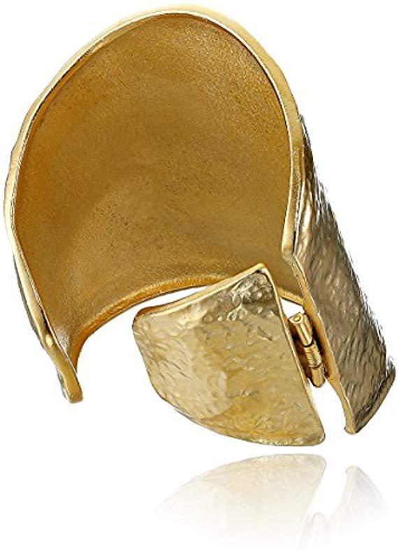 fedfb7db93686 Women's Metallic Satin Gold Hammered Cuff Bracelet