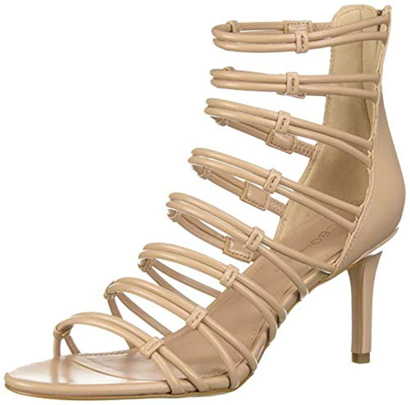 e89eea8ec69 Lyst - BCBGeneration Maria Strappy Sandal Pump in Natural - Save 13%