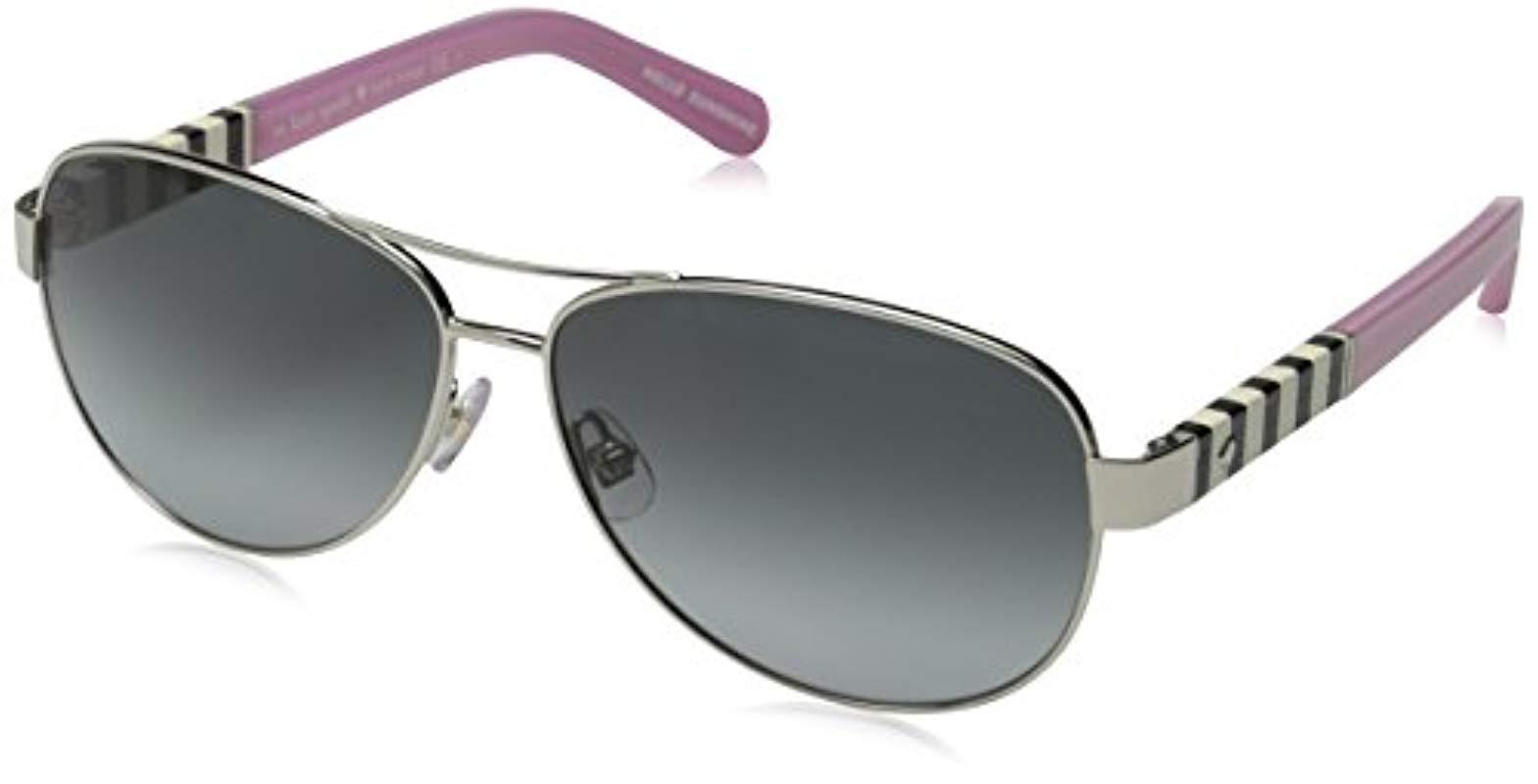 c56d1eb767f Lyst - Kate Spade Kate Spade Dalia Aviator Sunglasses - Save 3%
