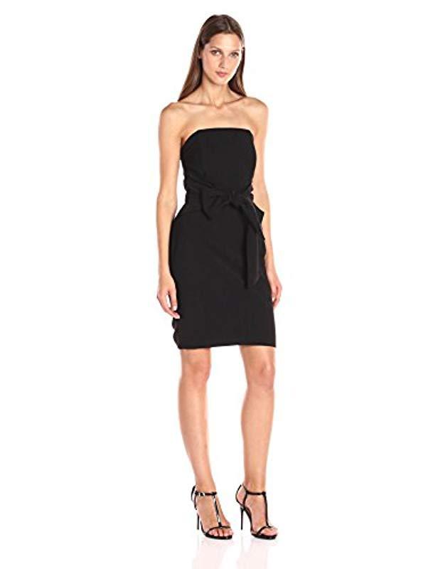 Lyst Adelyn Rae Strapless Tie Waist Dress In Black Save