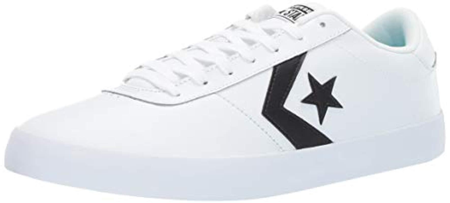 70932bed269044 Lyst - Converse Point Star Leather Low Top Sneaker in Black