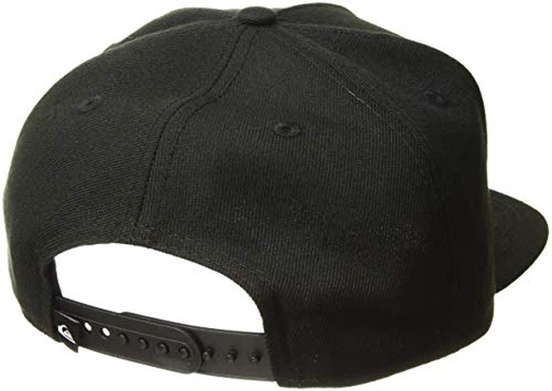 f9b5129e Quiksilver - Black Stuckles Snap Trucker Hat for Men - Lyst. View fullscreen