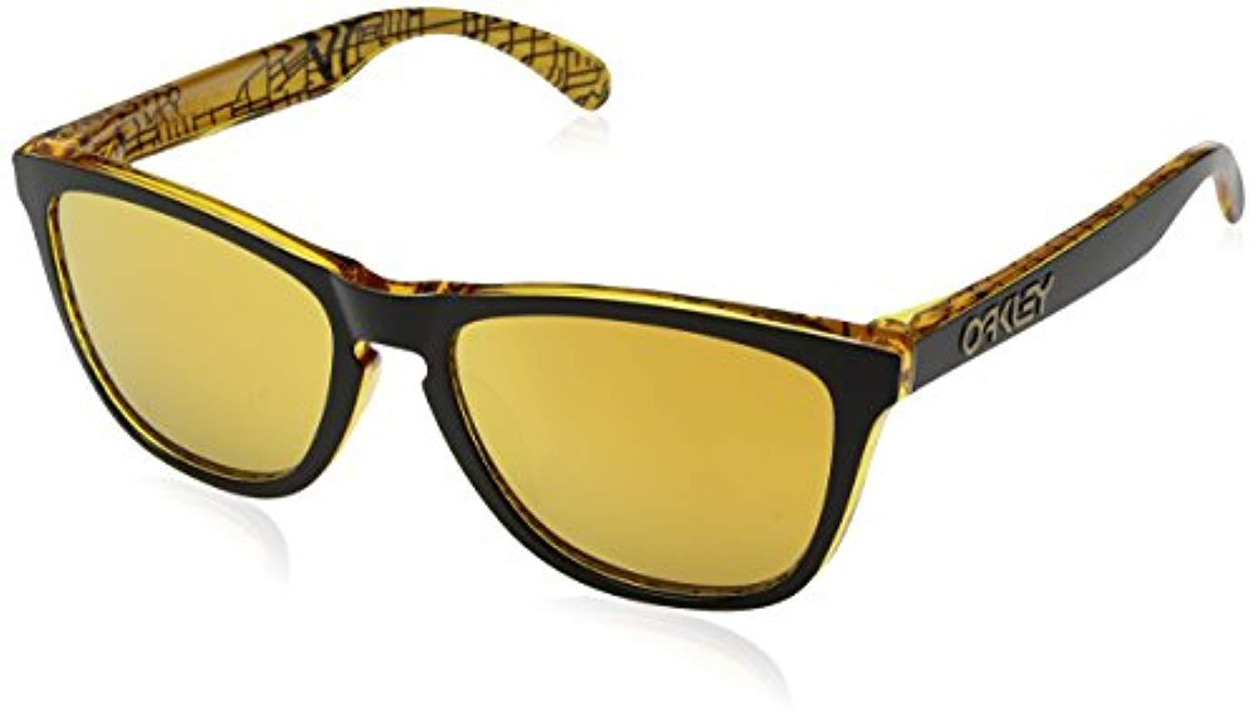292c475ce5 ... shop oakley. mens yellow frogskins asia fit sunglasses cd389 f419e