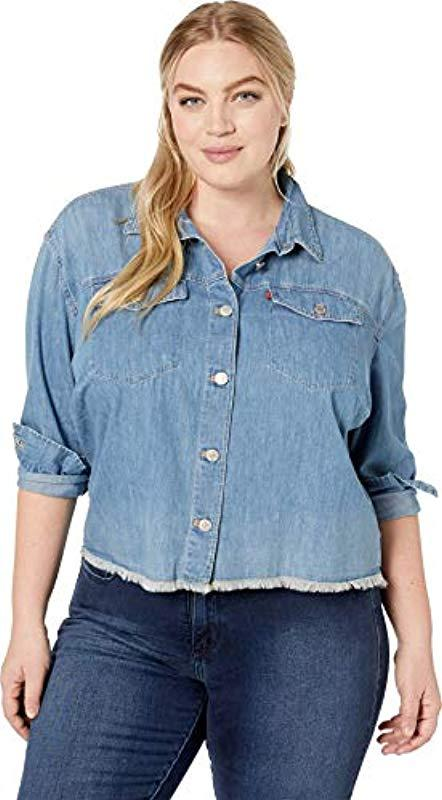 b45af403303 Lyst - Levi s Plus-size Ash Shirt in Blue