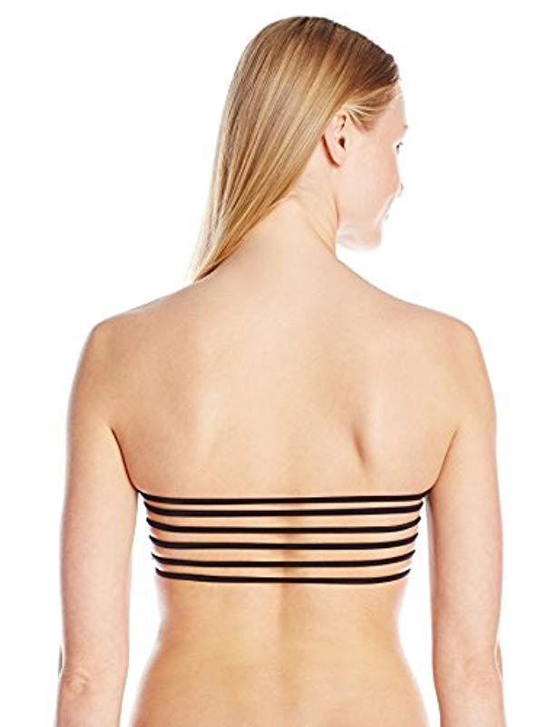 c1a21f8716a9d Lyst - Jessica Simpson Botanica Geo Underwire Bralette Bikini Top in Black