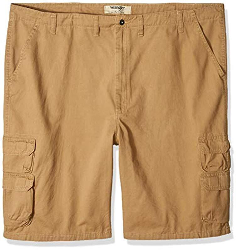 85afcac0ad Wrangler. Men's Natural Authentics Big & Tall Premium Twill Cargo Short