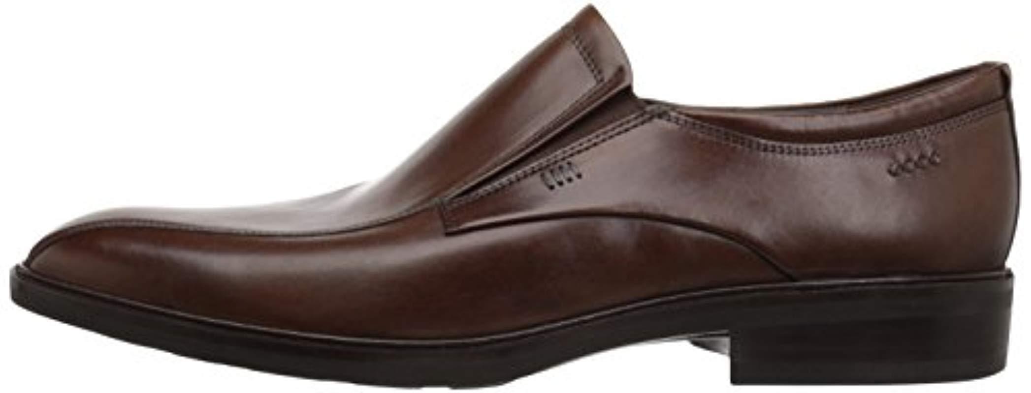 Ecco Leather Illinois Slip On in Walnut