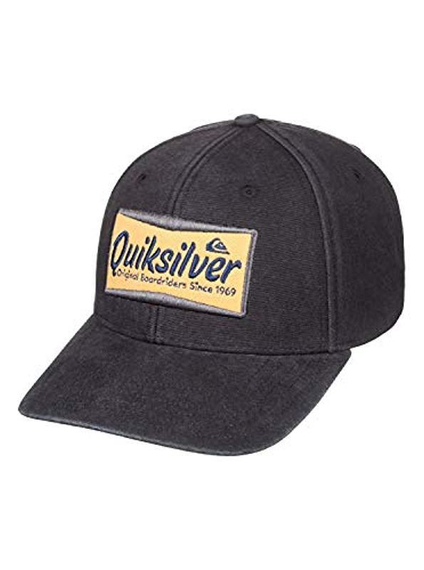 the best attitude 22c82 f33ae Quiksilver - Black Smoko Trucker Hat for Men - Lyst. View fullscreen